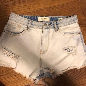 Pacsun High Rise light wash jean Shorts
